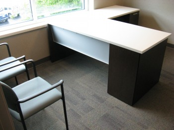 June Furniture Installation Hoffman - White laminate conference table